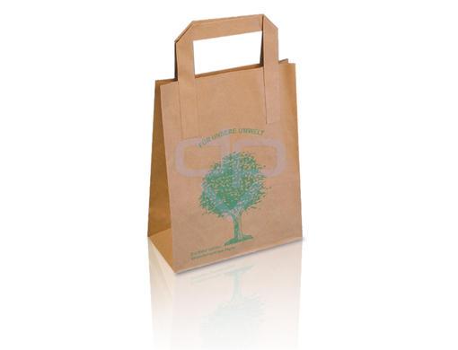 braune papiertragetaschen mit umweltbaum preiswert kaufen. Black Bedroom Furniture Sets. Home Design Ideas