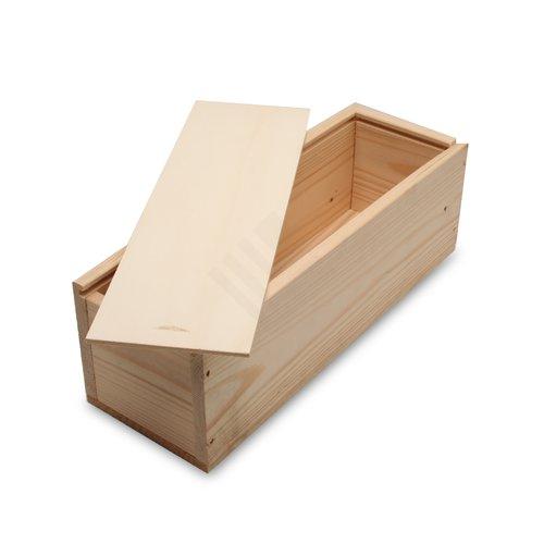holzkiste f r eine flasche wein und holzwolle preiswert. Black Bedroom Furniture Sets. Home Design Ideas