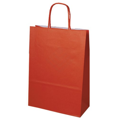 300 Papiertragetaschen Papiertüten orange 18+8x22cm